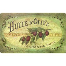 Ann Vintage Olive Oil Kitchen Mat