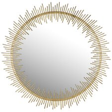 Maxim Round Sunray Circle Wall Mirror