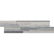 "6"" x 24"" Marble Wall Tile in Alaska Gray/White (Set of 3)"