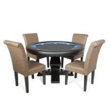 """58"""" Velveteen Ginza LED Poker Table Set"""