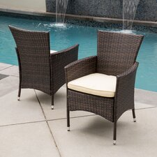 Carmack Dining Arm Chair with Cushion (Set of 2)