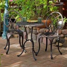Hawking 3 Piece Palms Aluminum Copper Bistro Set