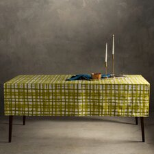 Striped Basket Weave Tablecloth