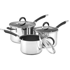 Momentum 3 Piece Non-Stick Stainless Steel Cookware Set