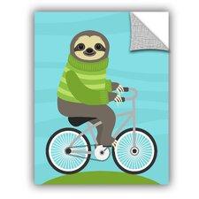 Nancy Lee Cycling Sloth Wall Decal