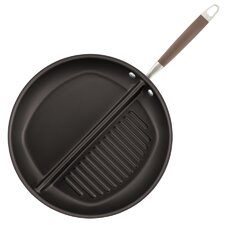 """Advanced 12.5"""" Divided Non-Stick Grill and Griddle Pan"""