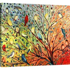 Twenty Seven Birds' by Jennifer Lommers Framed Graphic Art Print on Canvas