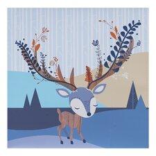Woods Deer Canvas Art