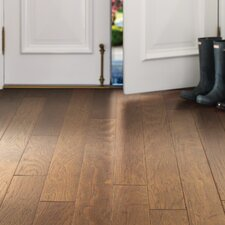 "Victorian Hickory 4.8"" Engineered  Hickory Hardwood Flooring in Warm Sunset"