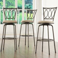 Frankfort Adjustable Height Swivel Bar Stool (Set of 3)