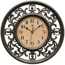 "Bronze 12"" Round Plastic Wall Clock"
