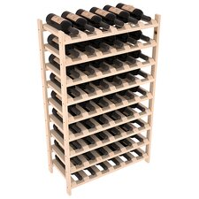 Karnes Pine Stackable 54 Bottle Floor Wine Rack