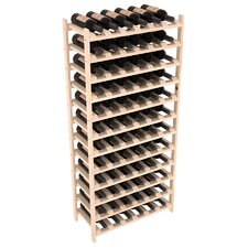 Karnes Pine Stackable 72 Bottle Floor Wine Rack