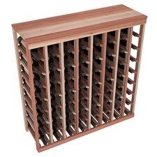 Karnes Redwood Table Top 64 Bottle Floor Wine Rack