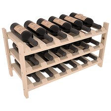 Karnes Pine Stackable 18 Bottle Tabletop Wine Rack