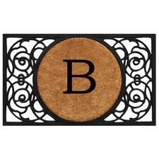 Francesca Circle Monogram Doormat