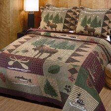 Owego Moose Lodge 3 Piece Reversible Quilt Set
