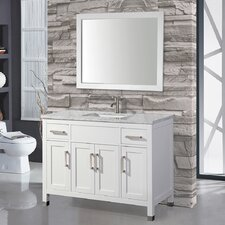 "Denault 60"" Single Sink Bathroom Vanity Set with Mirror"
