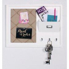 Decorative Wood Home Organizer Fabric Pinboard