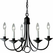 Graham Brushed Nickel 5-Light Candle-Style Chandelier