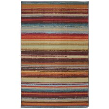 Rena Stripe Hand-Tufted Brown Indoor/Outdoor Area Rug