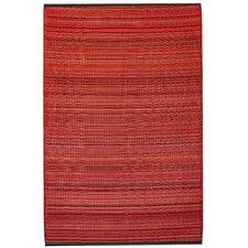 Reva Hand-Woven Red Indoor/Outdoor Area Rug