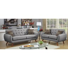 Takeo 2 Piece Sofa Set with 4 Pillows