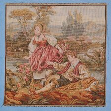 Romantic Couple by River Woven Tapestry