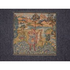 Lady on Horse with Gentleman Woven Tapestry