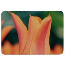 Angie Turner Orange Tulip Memory Foam Bath Rug