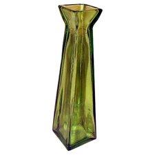 Coloured Glass Pyramid Vase