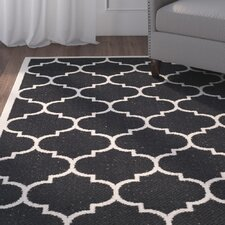 Octavius Black/Beige Indoor/Outdoor Area Rug