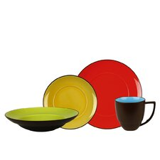 Duo 16 Piece Dinnerware Set, Service for 4