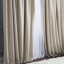 Roderick Doublewide Plush Blackout Thermal Single Curtain Panel
