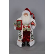 Christmas Holly Santa Figurine