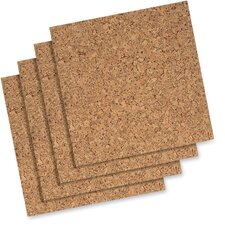 "Cork Panels, Self-heal, 12""x12"", 4 per Pack, Natural"