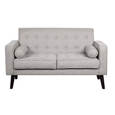 Cleo Linen Tufted Loveseat
