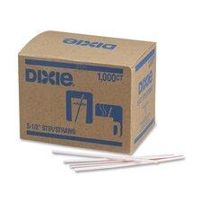 """Stir Sticks, Plastic, 5-1/2"""", 1000 per Box, White w/ Red Stripes (Set of 2)"""