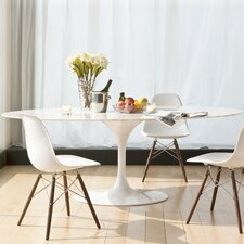 Larkson White Oval Metal Dining Table