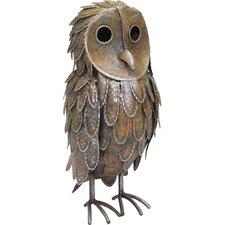 Standing Owl Garden Statue