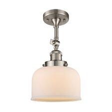Bell Glass 1-Light Semi Flush Mount