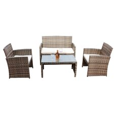 Boulevard 4 Piece Sofa Seating Group with Cushion