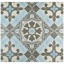 """Evaso 17.63"""" x 17.63"""" Ceramic Field Tile in Azul"""