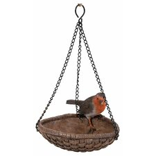 Hanging Robin Heart Bird Feeder
