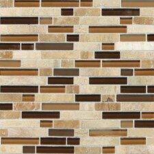 Stone Radiance Random Sized Slate Mosaic Tile in Caramel Travertine