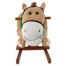 Plush Wooden Rocking Horse