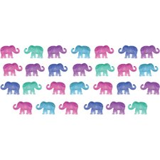 27 Piece Elephant Party Applique Wall Decal Set