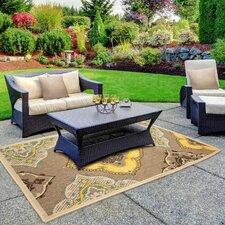 Jaya Allie Taupe/Yellow Indoor/Outdoor Area Rug