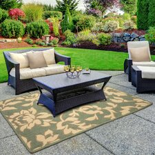 Jaya Bennet Green/Beige Indoor/Outdoor Area Rug