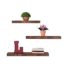 True 3 Piece Floating Shelf Set